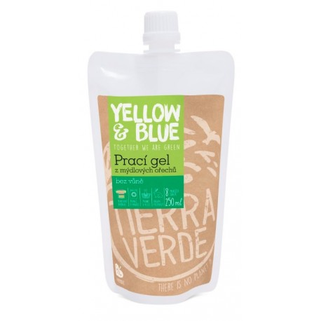Yellow&Blue Prací gel bez vůně 250ml