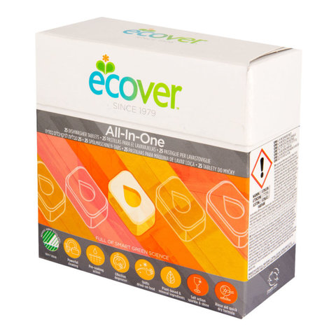 ECOVER tablety do myčky All in One 500g (25ks)