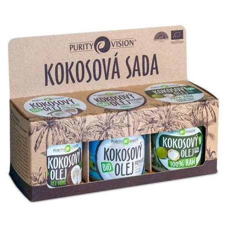 Purity Vision Kokosová sada 3 x 120 ml BIO